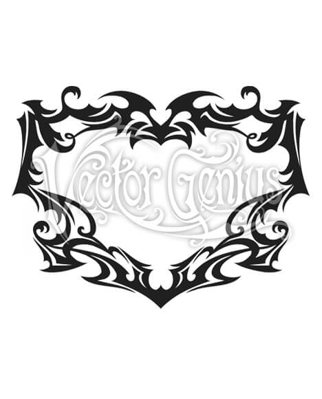 Tribal clipart banner black and white download Tattoo Flash Art Tribal Decorative Border Clipart banner black and white download