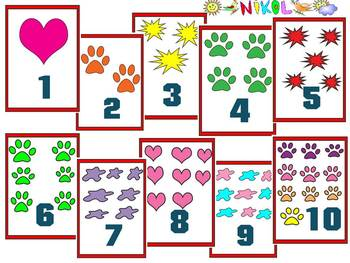 Flashcards clipart picture library Flashcards - numbers and pictures - Clipart 40 individual files End of the  year picture library