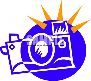 Flashing camera clip art graphic transparent download Royalty Free Clipart Image: Icon of a Camera with the Flash Going Off graphic transparent download