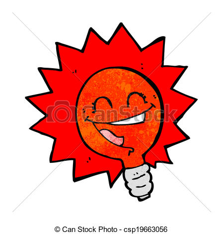 Flashing clip art clip freeuse download Clipart Vector of happy flashing red light bulb cartoon - happy ... clip freeuse download