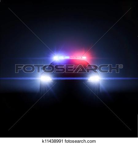 Flashing police car lights clipart banner transparent Bright Light Siren Clipart - Clipart Kid banner transparent