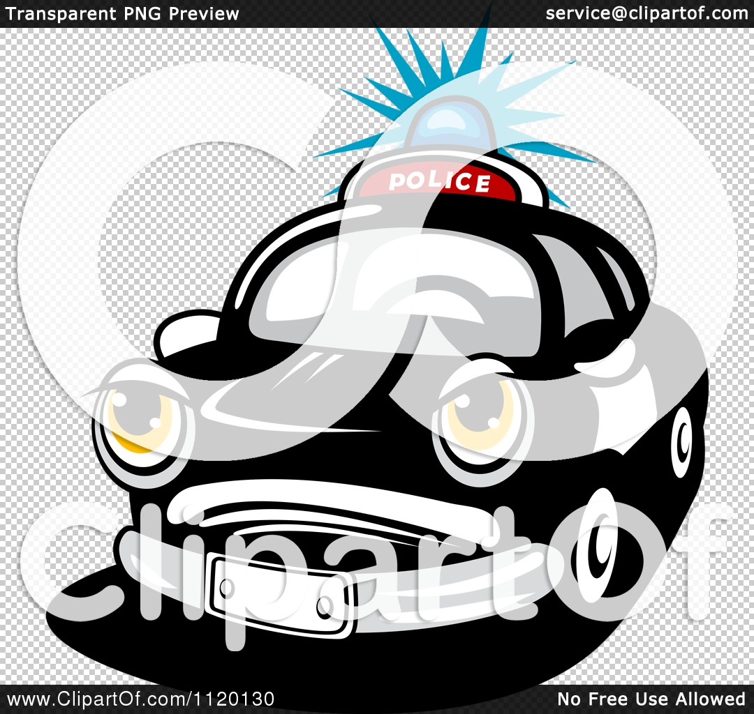 Flashing police car lights clipart clipart free stock Clipart Of An Angry Police Car With A Flashing Siren Light ... clipart free stock