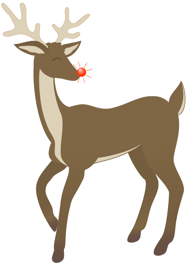 Flashing reindeer clipart banner free stock Rudolph Clip Art Free | Clipart Panda - Free Clipart Images banner free stock