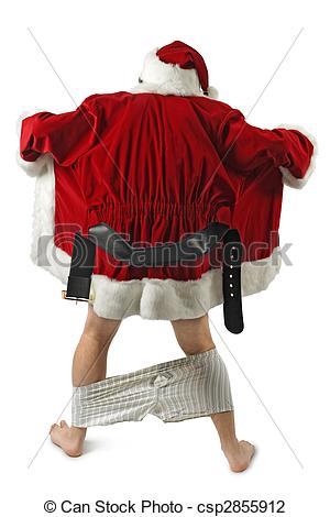 Flashing santa clipart graphic royalty free download Stock Photo of Santa flasher - Santa Claus opening his coat and ... graphic royalty free download