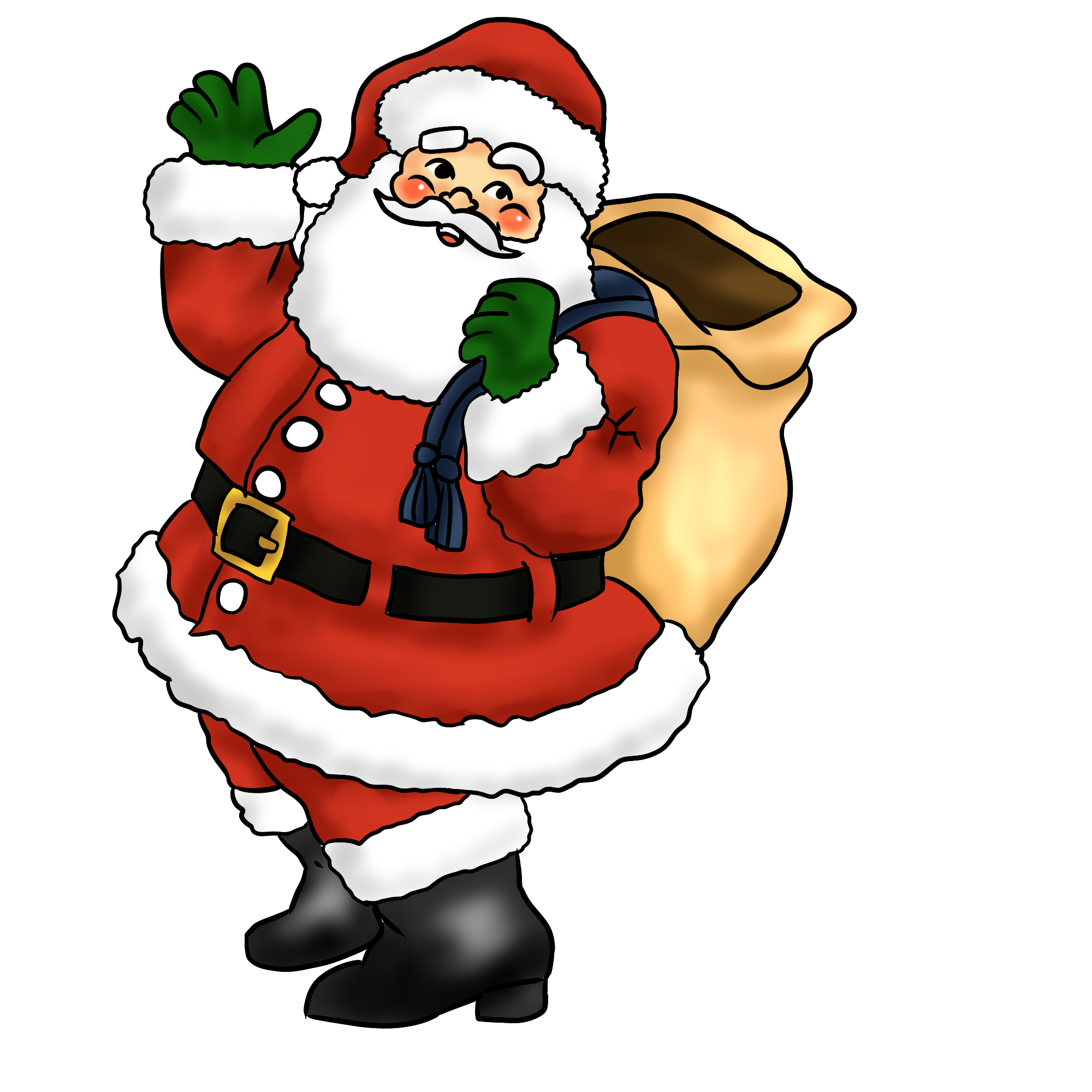 Christmas breakfast clipart png royalty free Free Free Santa Clipart, Download Free Clip Art, Free Clip Art on ... png royalty free