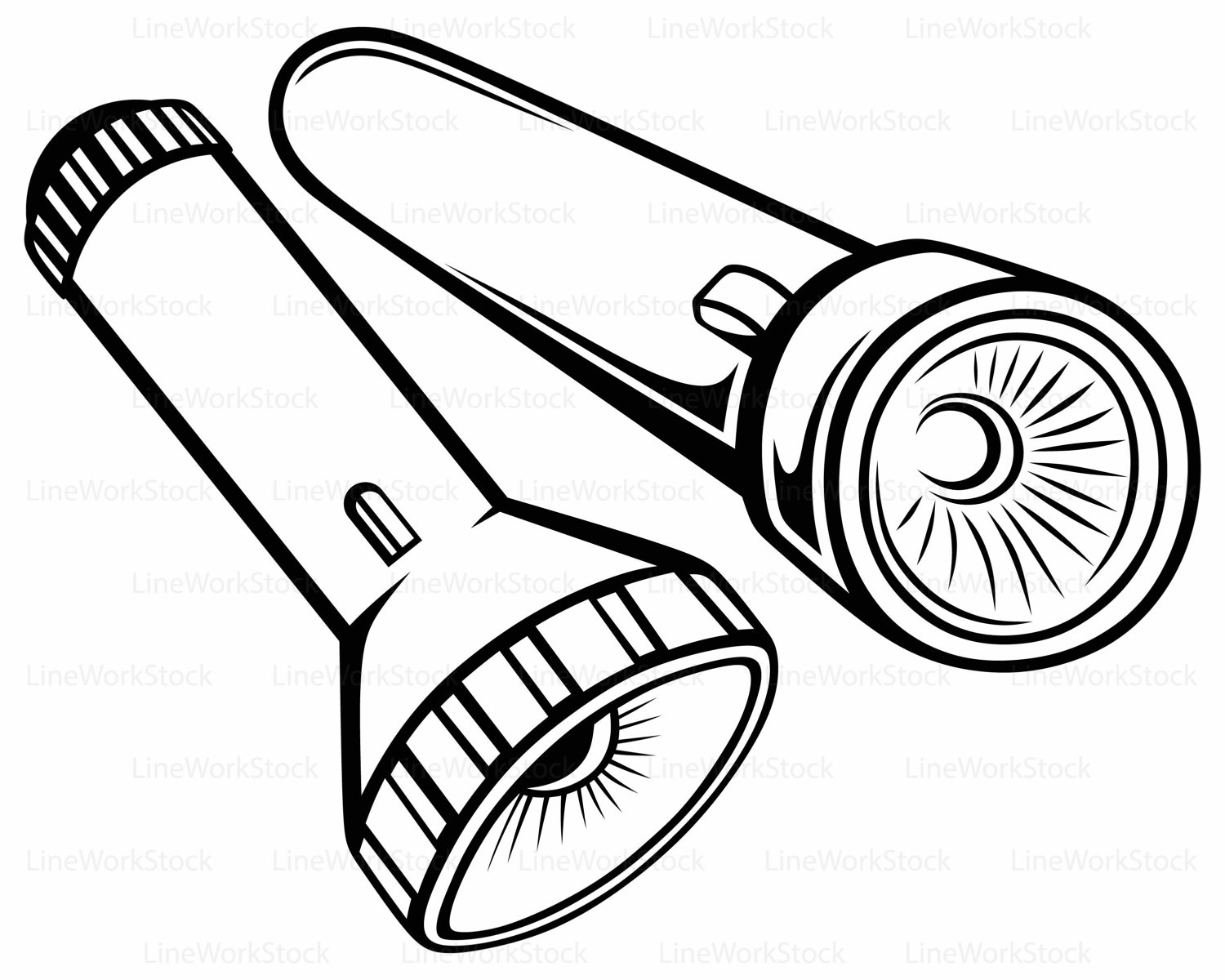 Flashlight free black and white clipart download Collection of Flashlight clipart | Free download best Flashlight ... download