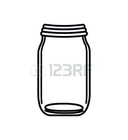 Flat can clipart. Mason jar graphic glass