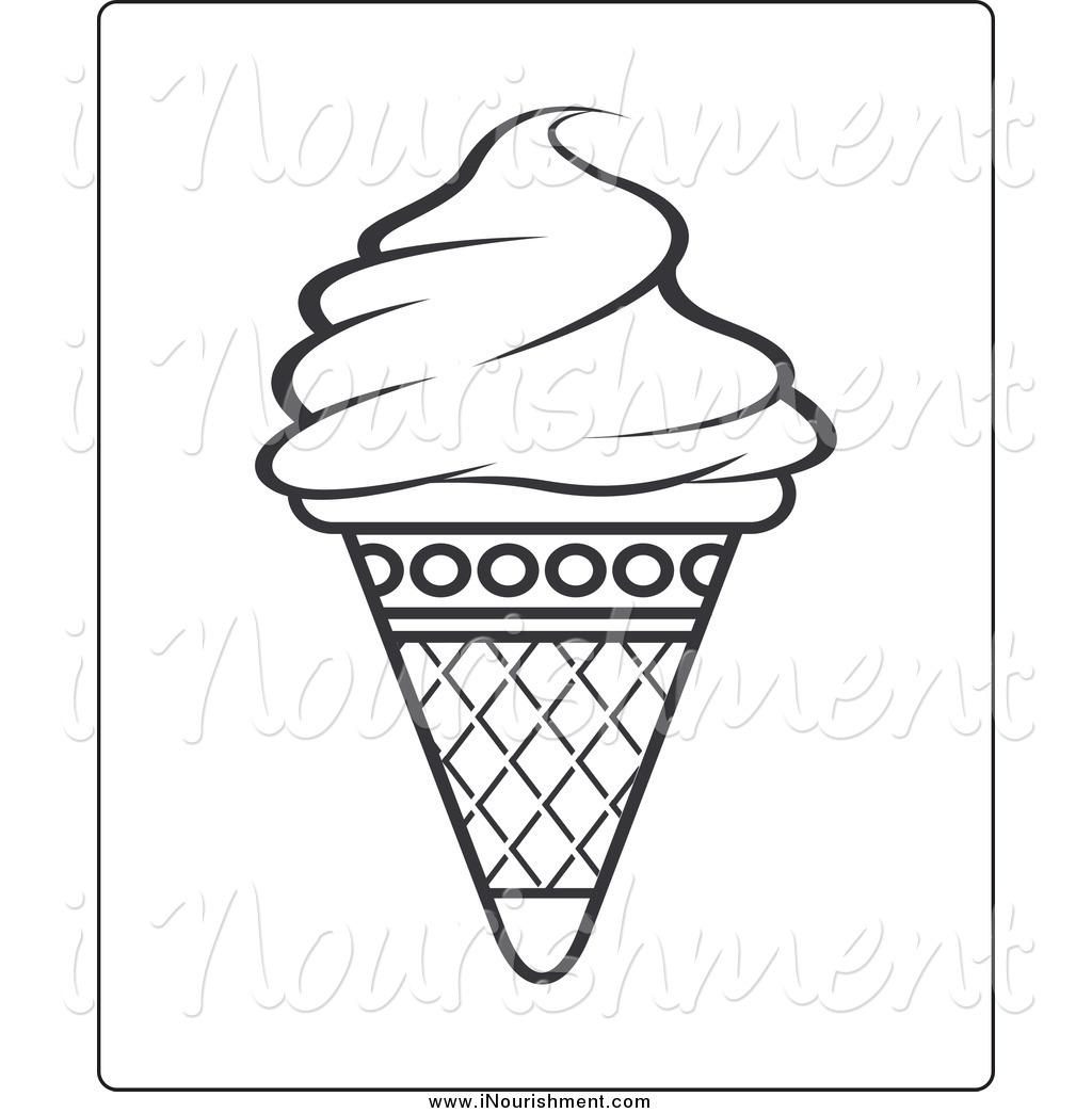 Flat ice cream cone black and white clipart free stock 15 Ice Cream Cone Black And White Photography Images - Ice Cream ... free stock