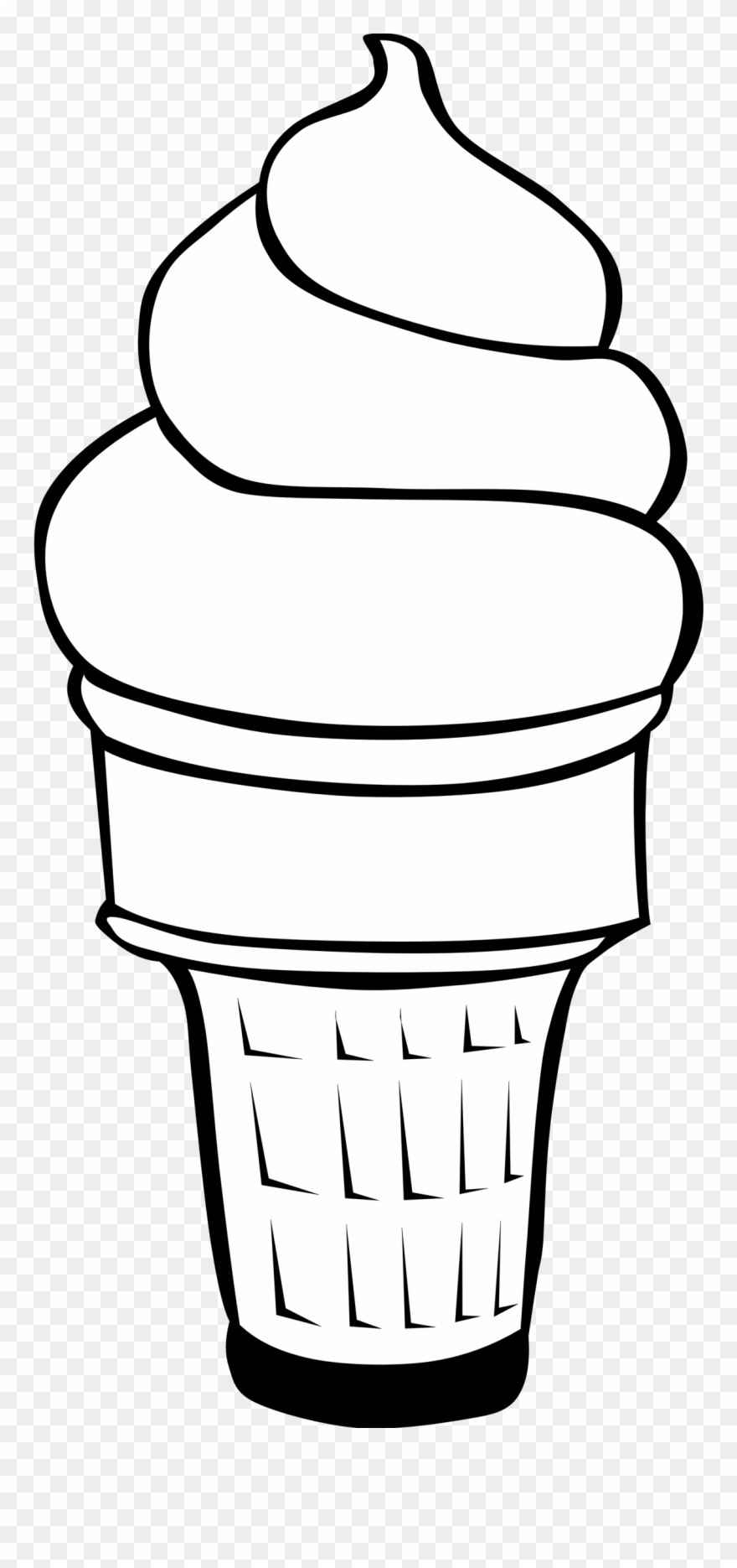 Flat ice cream cone black and white clipart vector black and white Ice Cream Cone Line Drawing at PaintingValley.com | Explore ... vector black and white