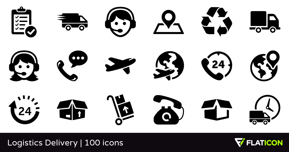 Flat icon clipart free jpg royalty free library Logistics Delivery 100 free icons (SVG, EPS, PSD, PNG files) jpg royalty free library