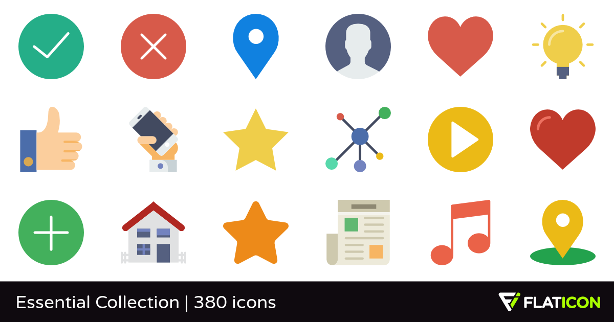 Flat icon free clipart clip art freeuse stock Essential Collection 380 free icons (SVG, EPS, PSD, PNG files) clip art freeuse stock