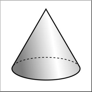 Flat trianle cone black and white clipart. Free download best on