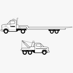 Flatbed 18 wheeler clipart black and white image black and white library Car Pickup Truck Semi-trailer Truck Flatbed Truck - Flat Bed Truck ... image black and white library
