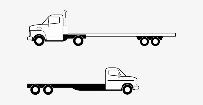 Flatbed 18 wheeler clipart black and white clipart free download Jpg Flatbed - Flatbed Truck Clip Art - Free Transparent PNG Download ... clipart free download