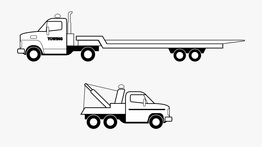 Chevrolet pickup truck side view free clipart svg black and white Car Pickup Truck Semi-trailer Truck Flatbed Truck - Flat Bed Truck ... svg black and white