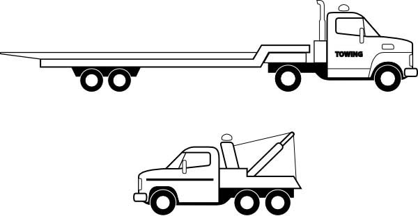 Tractor trailer flatbed clipart clipart freeuse library Free Commercial Trailer Cliparts, Download Free Clip Art, Free Clip ... clipart freeuse library