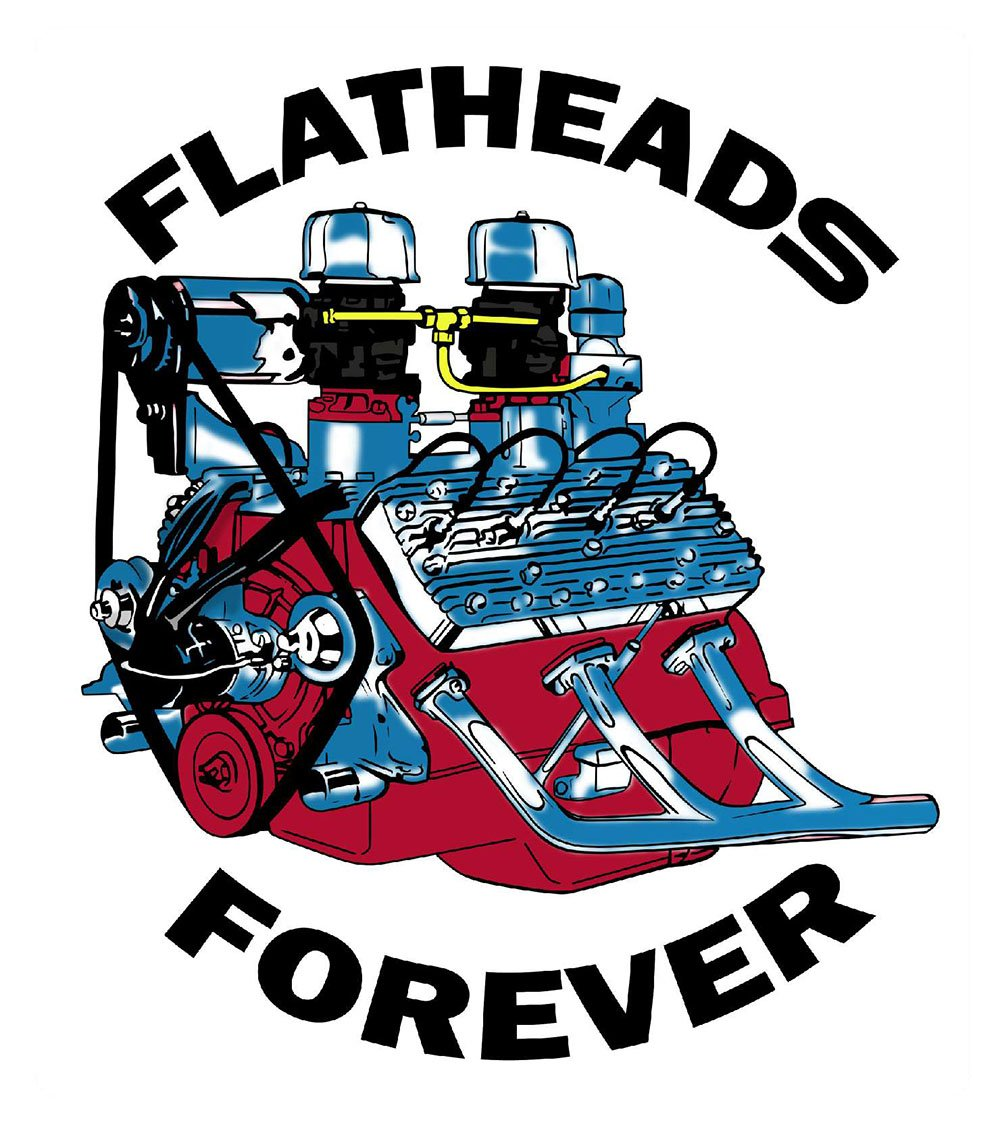Flathead engine clipart. Flatheads forever ford hot