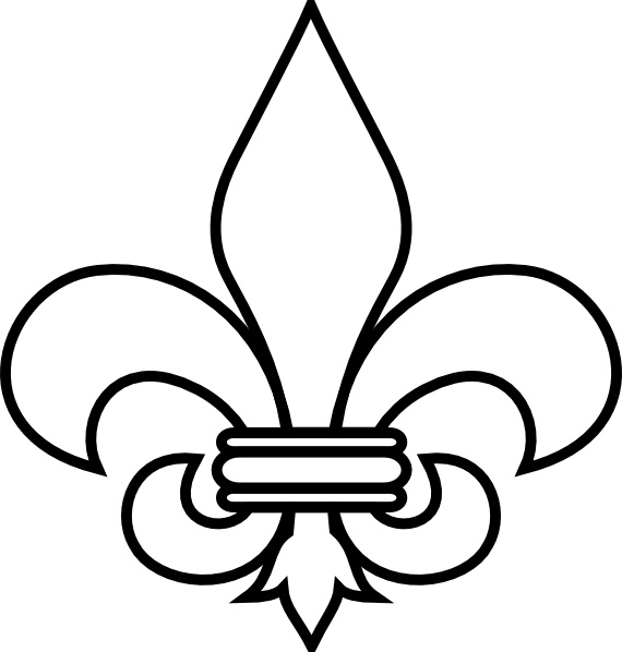 Free clipart of fleur de lis picture black and white library Fleur De Lis Outline clip art Free vector in Open office drawing svg ... picture black and white library