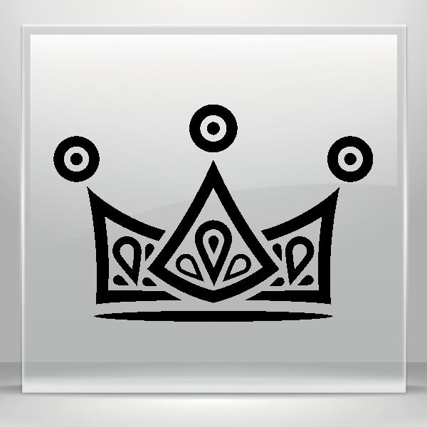 Fleur de lis crown vinyl clipart clip art free download Simple color vinyl Royal Crown Chess Queen King Kingdom | Stickers ... clip art free download