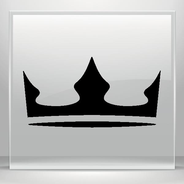 Fleur de lis crown vinyl clipart black and white download Simple color vinyl Royal Crown Chess Queen King Kingdom | Stickers ... black and white download