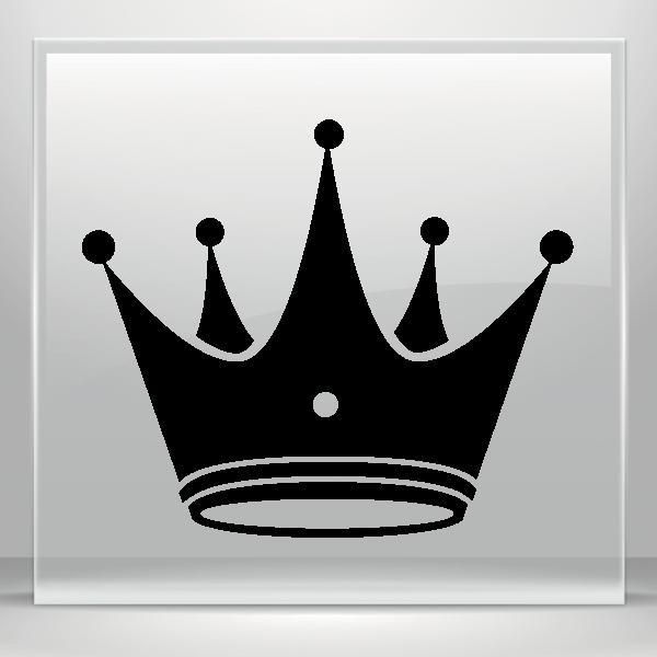 Fleur de lis crown vinyl clipart clip royalty free library Simple color vinyl Royal Crown | Stickers Factory clip royalty free library