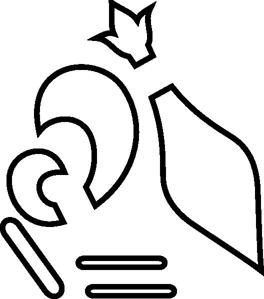 Fleur de lis crown vinyl clipart graphic black and white library flor de lis escoteira mundial - Pesquisa Google | Riscos e moldes ... graphic black and white library