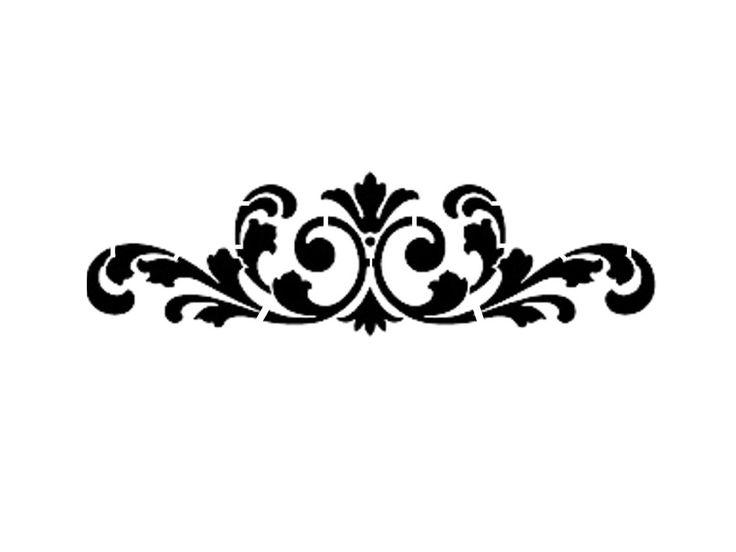 Printable stencil free download. Fleur de lis scroll clipart