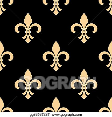 Fleur-de-lis pattern clipart banner transparent EPS Illustration - Yellow and black fleur-de-lis pattern. Vector ... banner transparent
