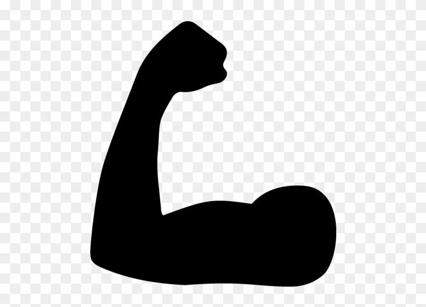 Flex clipart black and white transparent background. Muscle icon png x