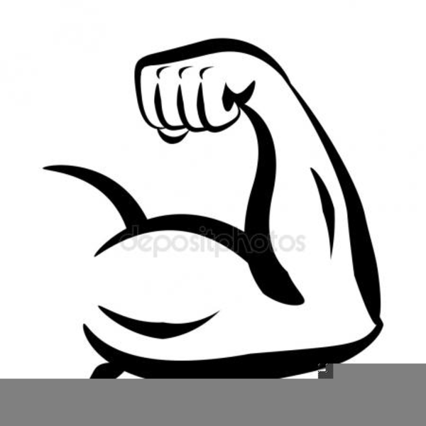 Flexing biceps free images. Flexed arm clipart