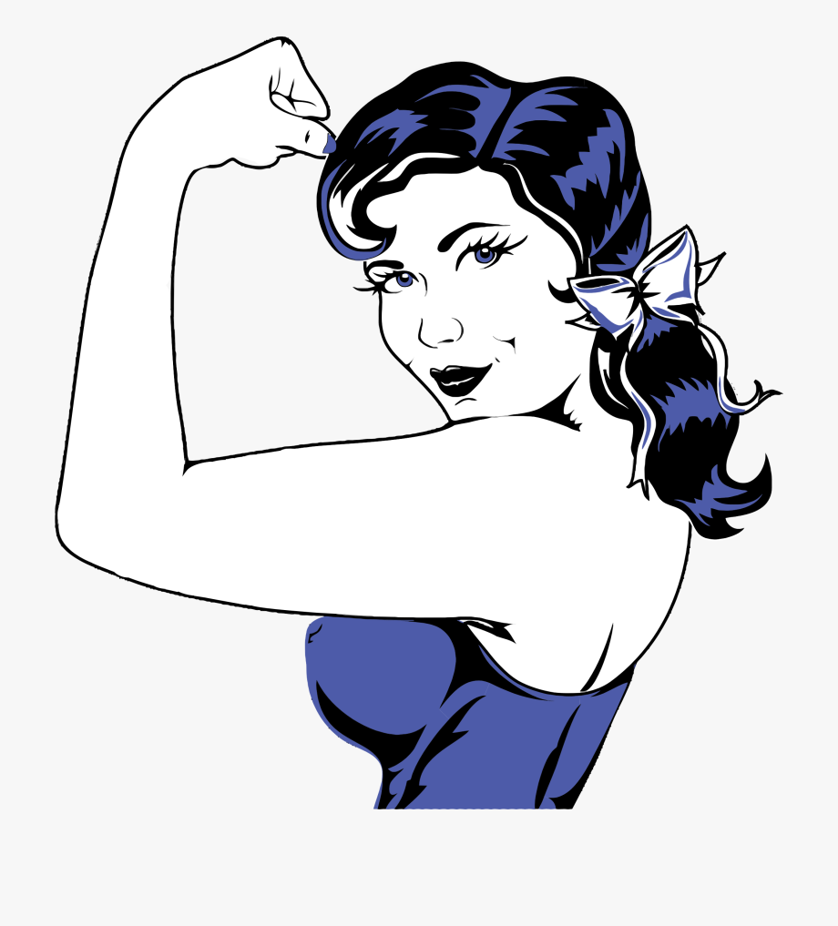 Flexed arm clipart. Clip art muscular woman