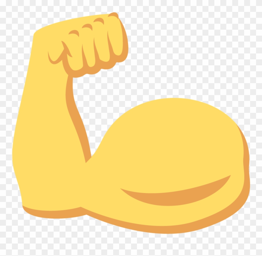 Similiar flexing emoji keywords. Flexed arm clipart
