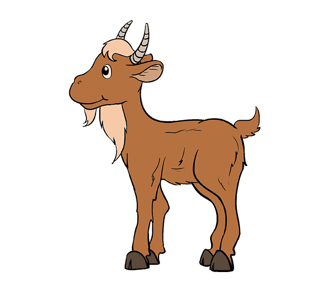 Flexing goat clipart. Cartoon images gallery for