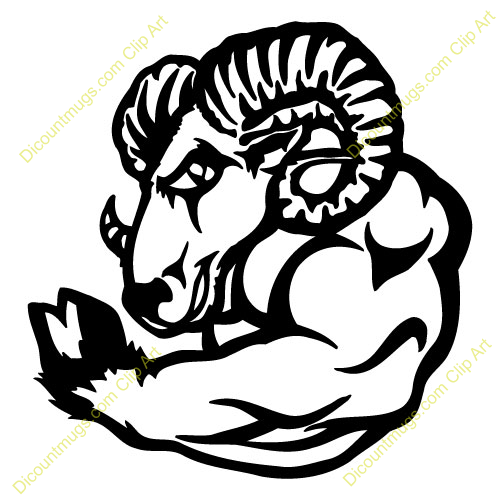 Flexing goat clipart. Muscle free download best