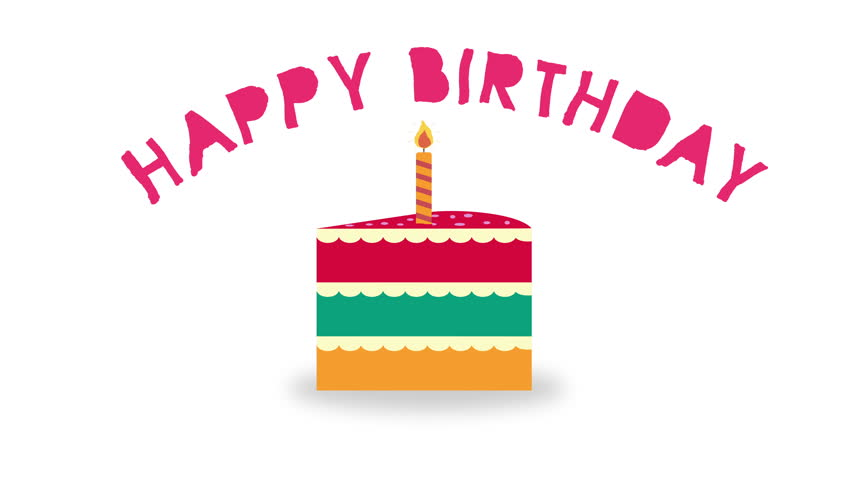 Flickering birthday candle clipart black and white Animated Cartoon Birthday Candles Flickering And Being Blown Out ... black and white