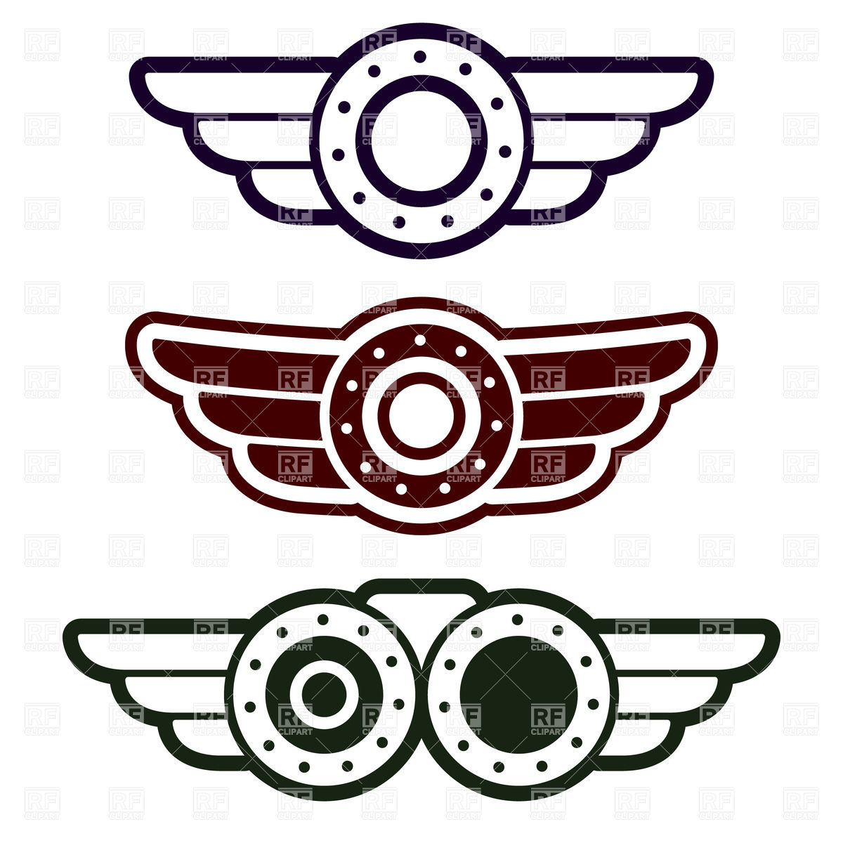 Flight wings clipart. Free pilot cliparts download