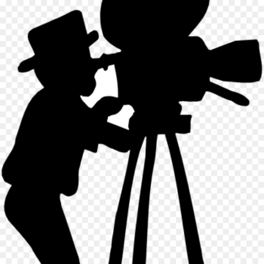Camera silhouette film transparent. Fliminh clipart