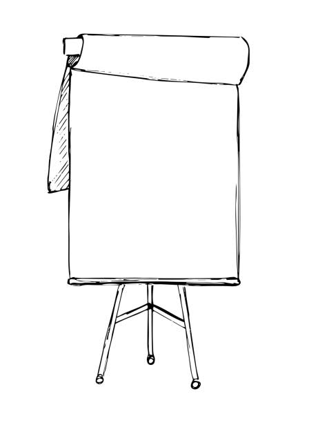 Flip chart clipart freeuse Flip chart isolated on white background. Sketch. Vector » Clipart ... freeuse