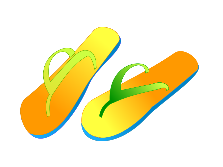 Flip clipart image online clip royalty free stock Flip Flops Clipart, Vector Clip Art Online, Royalty Free Design ... clip royalty free stock