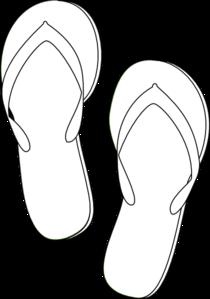 Flip clipart image online stock Flip Flops Outline clip art - vector clip art online, royalty free ... stock