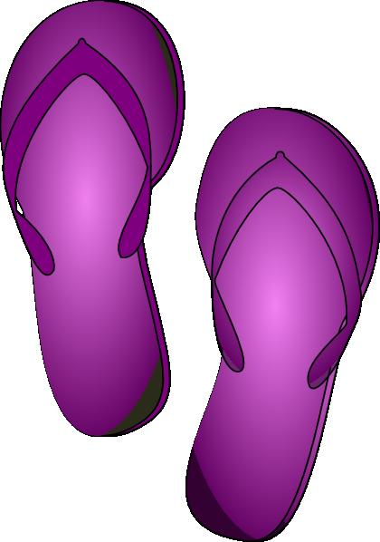 Flip clipart image online freeuse Purple Flip Flop Clip Art at Clker.com - vector clip art online ... freeuse