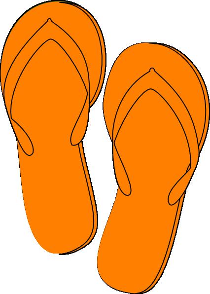 Flip clipart image online jpg royalty free Orange Flip Flops clip art - vector clip art online, royalty free ... jpg royalty free