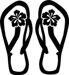 Free hawaiian flipflops cliparts. Flip flops on beach black and white clipart