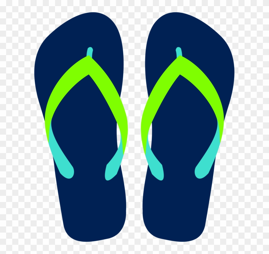 Flop png download . Flip flops on beach black and white clipart