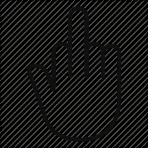 Flip off clipart in black vector download \'Hand gestures thin line signs\' by Irina Mir vector download