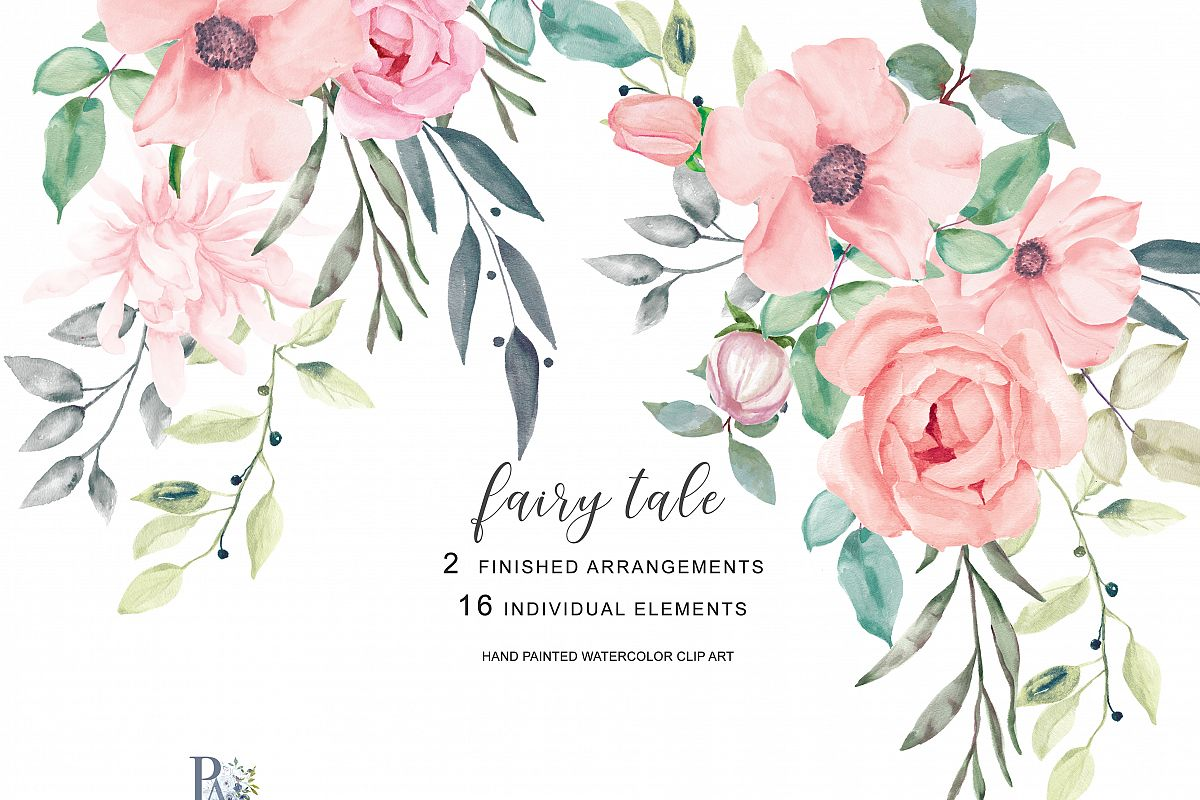 Image result for teal sage pink flowers clipart png royalty free stock Blush Watercolor Flowers Clipart png royalty free stock