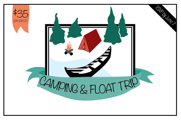 Float trip clipart jpg freeuse library Float Trip Post Card Invitation on Behance jpg freeuse library
