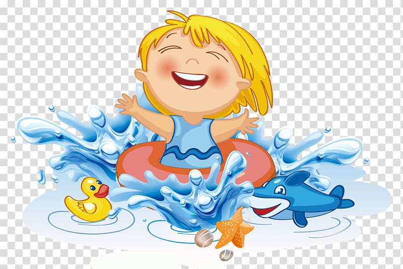 Float trip clipart graphic stock Kid in orange water float near duck toy painting, Swimming children ... graphic stock
