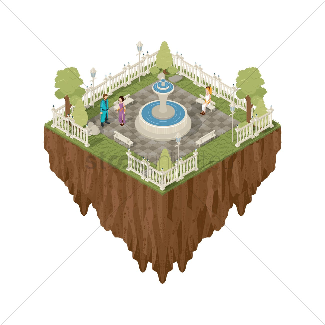 Floating island clipart hd jpg transparent library Floating Island Clipart Isometric - Flying Island Isometric ... jpg transparent library