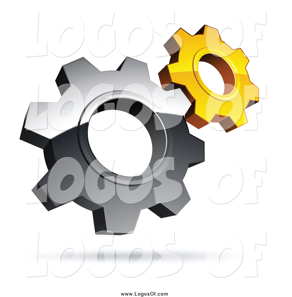 Floating vector clipart free stock Vector Clipart of a 3d Floating Silver and Yellow Gear Cog Wheels ... free stock